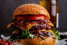 Burgers & BBQ Party / Sometimes you just need a juicy, tasty burger in your life. Everything you can put on a BBQ party table right here.