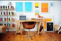Studio Envy / I can't stop tweaking my art studio.  Love bright color and good organization :)