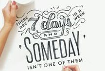 Quirky Quotes + Lovely Lettering