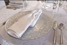 Charger Plates Decor | Weddings / GORGEOUS and incredibly unique glass chargers- food safe!  Use as a charger, a dinner plate, or to pass hors d'oeuvres! http://bbjlinen.com/Products/93/Chargers/All-Products