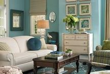 green and blue rooms