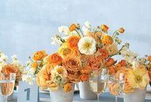 Wedding colors: orange and grey