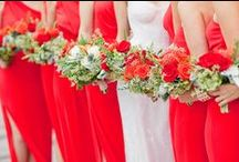 Red | Wedding Color Palette and Decor Inspiration / Wedding decor inspired by red hues.
