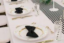 Black & White | Wedding Decor Inspiration / Black and White Wedding Inspiration