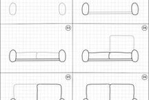How to draw | Home / Easy step by step drawing instructions of random things in the home.