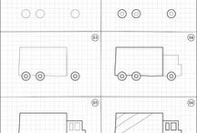 How to draw | Transportation / Easy step by step instructions of random transportation to draw.
