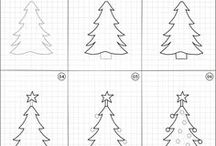 How to draw | Christmas & Winter / Easy step by step instructions of random Christmas and Winter things to draw.