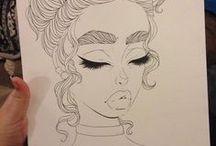 sketches, art