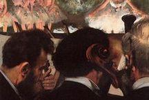 Edgar Degas (1834-1917) / Maler og billedhugger. Anses som en af impressionisterne, men opfattede sig selv mere som realist.. Ballet, væddeløbsbilleder, parisisk folkeliv.