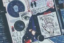 """Decorations for notebooks / Pomysły do """"ożywienia"""" nudnych zeszytów"""