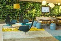 """LES PLANTES EN ENTREPRISE / """"Des plantes vertes dans l'aménagement des bureaux augmentent le bien-être des employés, leur productivité et leur créativité"""".     + d'infos sur www.decoration-entreprise.be     #deco #entreprise #plante #greendesign #feelgood #entreprise #QVT #happyatwork"""