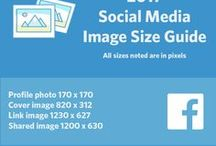 Social Media Image Size Guide / Keeping track of how big or how small the images for all your business's social networks can be frustrating, so we put together this album to make branding your networks a little bit easier!