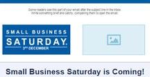 Small Business Saturday / Small Business Saturday is a nationwide effort to get people to forgo the mall and instead, shop at small businesses during the post-Thanksgiving weekend.