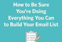 Grow Your Email List / It sounds simple, but creating a robust and targeted email lists is no small accomplishment. Here are our top resources to help you create a great email list.