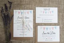 Village Fete Theme / Vintage wedding invitations and stationery ideas with a village fete theme, bunting.