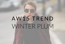AW15 Trend: Winter Plum / Beautiful dark tones of plum have caught our attention for AW15. Whether you wear it on your lips, your coat or on your feet, we think that plum is the perfect winter hue!