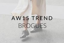 AW15 Trend: Feminine Brogues / Not just for the boys. We love brogues for a comfy, cool and classic alternative to ballet flats.