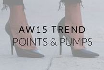 AW15 Trend: Points and Pumps / Pointed silhouettes are oh so chic for AW15. Check out our inspiration here!