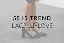 SS15 Trend: Lace Up Love / Our obsession with chic lace-up heels, flats and boots is still going strong for SS15, with beautiful styles to suit any outfit.