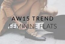AW15 Trend: Feminine Flats / Perfectly pretty, feminine flats to get you through the transeasonal months in style.