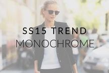 SS15 Trend: Monochrome / Black and white perfection: Inspiration for your summer monochrome wardrobe. Just the thing to take you from work to play with ease!
