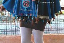 Authentic Ponchos / Kadın giyim, otantik tasarımlar, pançolar