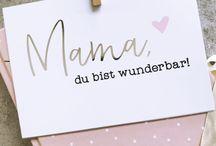 Muttertag / Mother's day / Muttertag, Mothers Day, Mutter, Mama, Familie, Dekoidee, Basteln für Mama, Mit Liebe, Geschenkidee