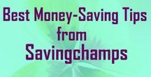 Best Savingchamps Money Saving Tips / Money saving tips from my blog site savingchamps.com. Many ideas on how to save money, spend less, and live a frugal life. Information on budgeting, personal finance, getting out of debt, investing, and frugal living.