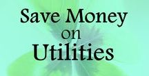 Save Money on Utilities / Tips and ideas on how to save money on utilities, save energy, reduce electricity cost, reduce water cost. Frugal living ideas, ways to save money, frugal lifestyle, money saving tips.