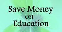 Save Money on Education / Tips and ideas on how to save money on school, save on education, getting college scholarships, pay for college, save for college. Frugal living ideas, ways to save money, frugal lifestyle, money saving tips.
