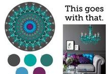 "This Goes with That. / Color scheme ideas using real paint colors.  As a color expert, I use more than 30 brand's color collections.  What I've done for you is design color combinations from every point of the color wheel.  Combinations that you may have never thought of on your own!  New ""This Goes with That"" color schemes added regularly.  Paint swatches are SwatchRight™ paint-peel-and-stick color sample decals.  www.swatchright.com"