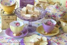 Tea Time Cupcake Party / Everyone loves a tea party, especially with beautiful china and delicious and imaginative cupcakes!! Some other edible treats, too. All things tea, and perhaps a little coffee thrown in, too.