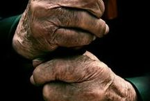 Life Lines / I love old people's hands and faces. They show so much character, and tell a story about their lives.