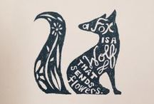What Does The Fox Say? / My current obsession with foxes... / by Melody | finicky designs