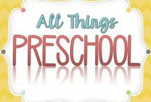 All Things Preschool / This is a collaborative board for anything and everything Preschool!  Ideas and resources for teaching numbers, letters, colors, science, health, art, music, and more.  Games, activities, printables, and more for learning in preschool!  Collaborators: Please be sure to post 3 free activities or ideas for every 1 paid product.  Happy pinning!