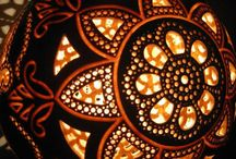Cool Gourd Lampshades; decorating ideas
