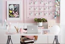 Wonderful Workspaces / office | home office | workspace | home office ideas | desk | desk chair | office inspiration | beautiful office | home office organization | home office design | small office | feminine office | chic office