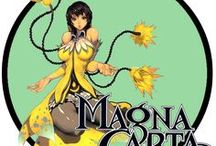 Magna Carta / Magna Carta Game artwork. In its native South Korea, Magna Carta impressed with its graphics, but quickly gained infamy for being extremely buggy, resulting in the publisher's recall of the game.