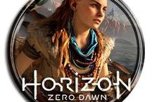 Horizon Zero Dawn / Horizon Zero Dawn Game Artwork. The plot revolves around Aloy, a hunter and archer living in a world overrun by robots. Having been an outcast her whole life, she sets out to discover the dangers that kept her sheltered.