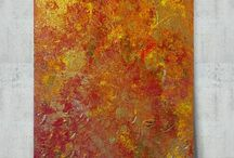 Gold Abstract Paintings and Wall Art / A Collection Original Gold Abstract Paintings and Wall Art