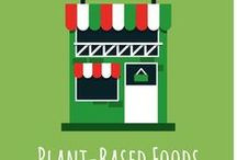 Plant-Based Foods / List of plant-based foods including: beans and pulses, fruits, grains and cereals, herbs and spices, nuts and seeds and vegetables.  A selection of plant-based processed foods are also included.