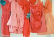 Coral colour wedding style