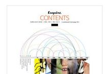 Magazines: contents page designs