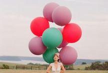BALLOON GARDEN / Balloons as decor for weddings and events.