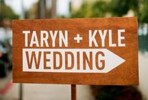SIGNS / Sign inspiration for your wedding or event!