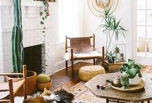 TREND: BOHO JUNGLE / Outdoor-inspired, jungle-themed, botanical, boho loveliness for your home. Capture the spirit of summer in your decor. #bohostyle #homedecor #homeinspiration