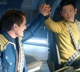 """otp: pilot // navigator / Star Trek // Sulu & Chekov aesthetics //  """"You have me,"""" Sulu says. Chekov is afraid to look at him. He stares up at Saturn and wonders what it would be like if Sulu really did love him after all.  """"I don't have you, Hikaru,"""" Chekov says. He laughs a little, trying to be a good sport. Sulu sits up on his elbow and frowns down at Chekov until he finally turns to look at him.  """"Yes, you do,"""" Sulu says. """"You do."""""""