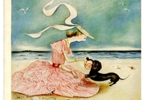 """Mary Petty & Nathalie Ragondet and other illustrators / Mary Petty (1899 - 1976), American illustrator of books and magazines. Best remembered for a series of covers done for The New Yorker featuring her invented """"Peabody family""""."""