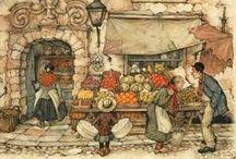 Anton Pieck  / Dutch Illustrator (1895-1987)
