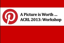ACRL2013: Workshop / This board features a variety of workshop resources, included are items available on Google drive, the agenda and a form for participants to submit their Pinterest sites for the group, a Voki avatar presenting the workshop abstract, and an Animoto video introduction. UPDATE 4/15/13 - Pinterest sites submitted by several workshop attendees have been added to the board via Snapito. Feel free to update information via the form at any time.